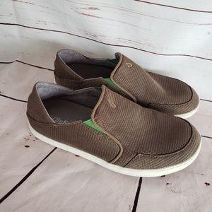 Mens Olukai nohea mesh slip on loafers shoes